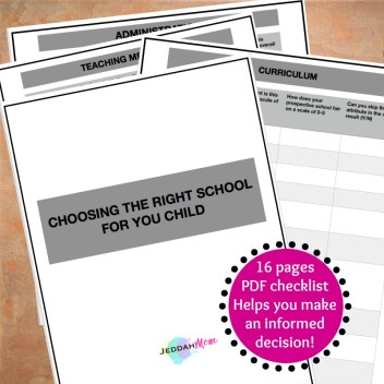 16 pages guide to help you make an informed decision about schools JeddahMom