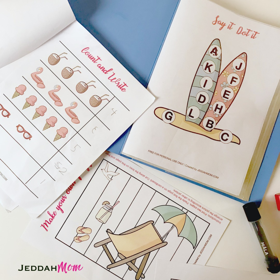 Summer Activity Pack for Kindergarten and Preschool JeddahMom
