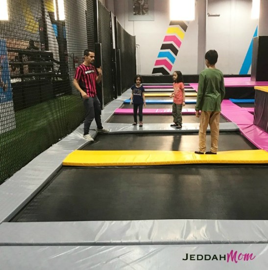 Instructor giving children instructions at Bounce Inc Jeddah before Summer Camp JeddahMOm
