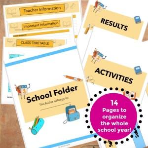 Printable School Year Folder JeddahMom