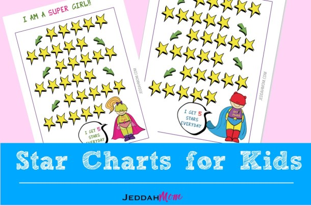 Super Hero Star Chart for Kids JeddahMOm