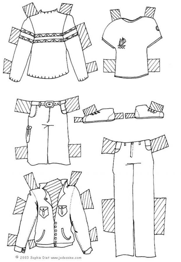 vêtements en dessin