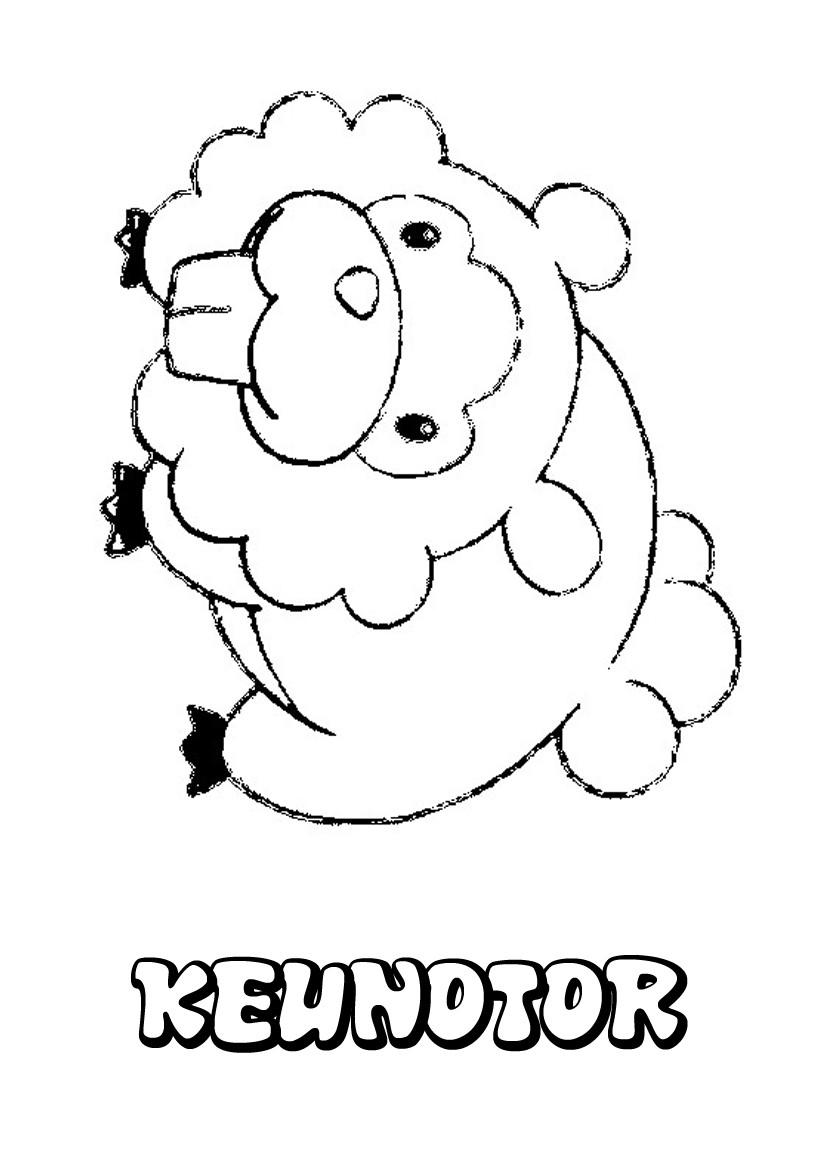 dessin à imprimer du Pokemon Keunotor