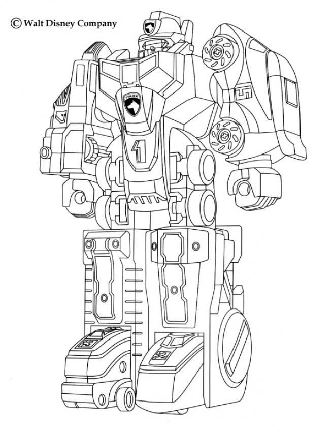 Coloriage Power Rangers Mega Robot Megazord