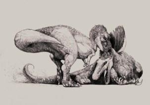tyrannosaurus rex et spinosaurus