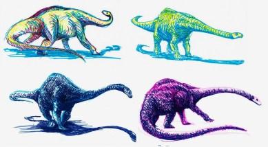 Sauropods Diplodocus - Copie