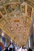 The tapestry map room in the Vatican museum