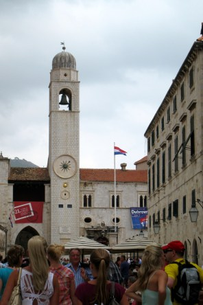 In the old city of Dubrovnik; hard to believe there was a war here so recently.