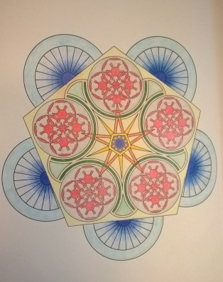 One of the geometric patterns