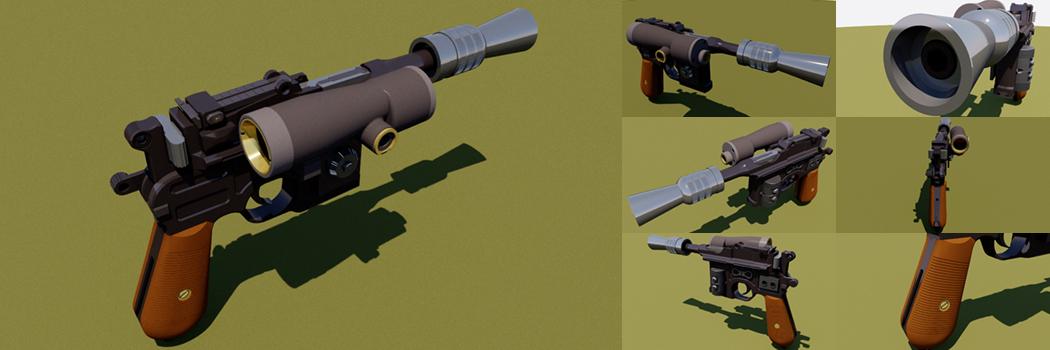 Han Solo's ESB Bespin DL-44 Heavy Blaster Pistol