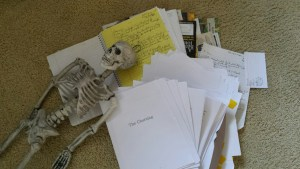 """Our pet skeleton succumbs to work over """"The Churning"""""""