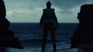 Justin Edison's humor blog on Star Wars VIII with Rey above a wicked beach hole.
