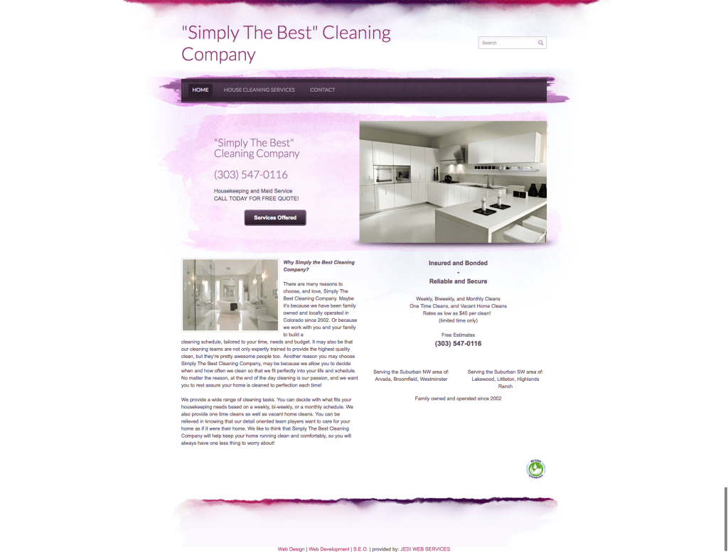 Simply The Best Cleaning Company Home