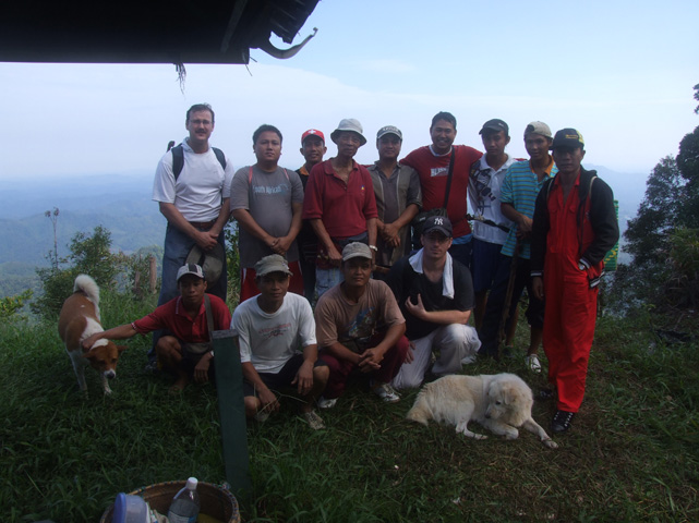 The expedition before going back to the bottom of the mountain. (all but me since I was taking the picture).