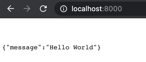 FastAPI Hello World response in a browser