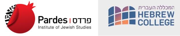 The Pardes Institute of Jewish Studies and Hebrew College Launch Program to Train Rabbi Educators