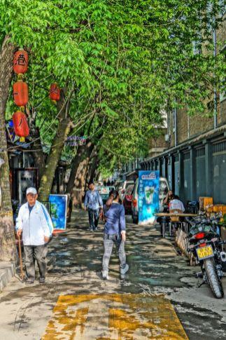 Jedna z uliczek Pekinu