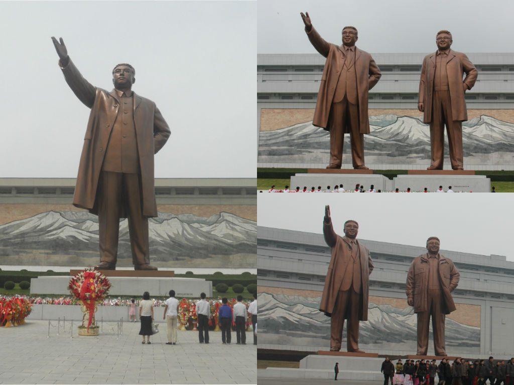 Monument na Wzgórzu Mansudae - zmiany przez lata