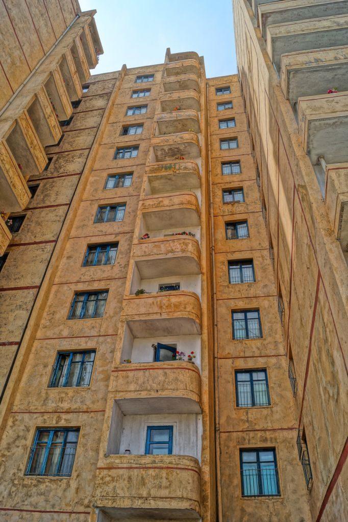 Pjongjang - blok mieszkalny