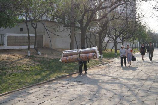 Pjongjang - transport dywanu