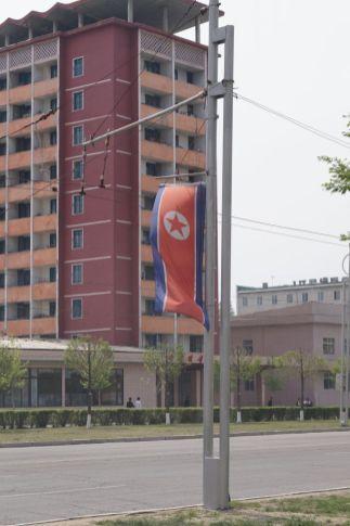 Pjongjang - flaga na mieście