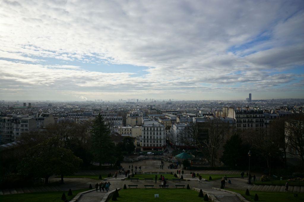 Montmartre - widok spod Sacre Coeur