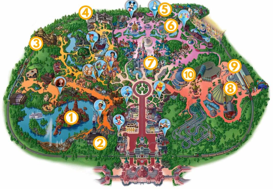 Mapa Disneylandu wg jedź, BAW SIĘ!