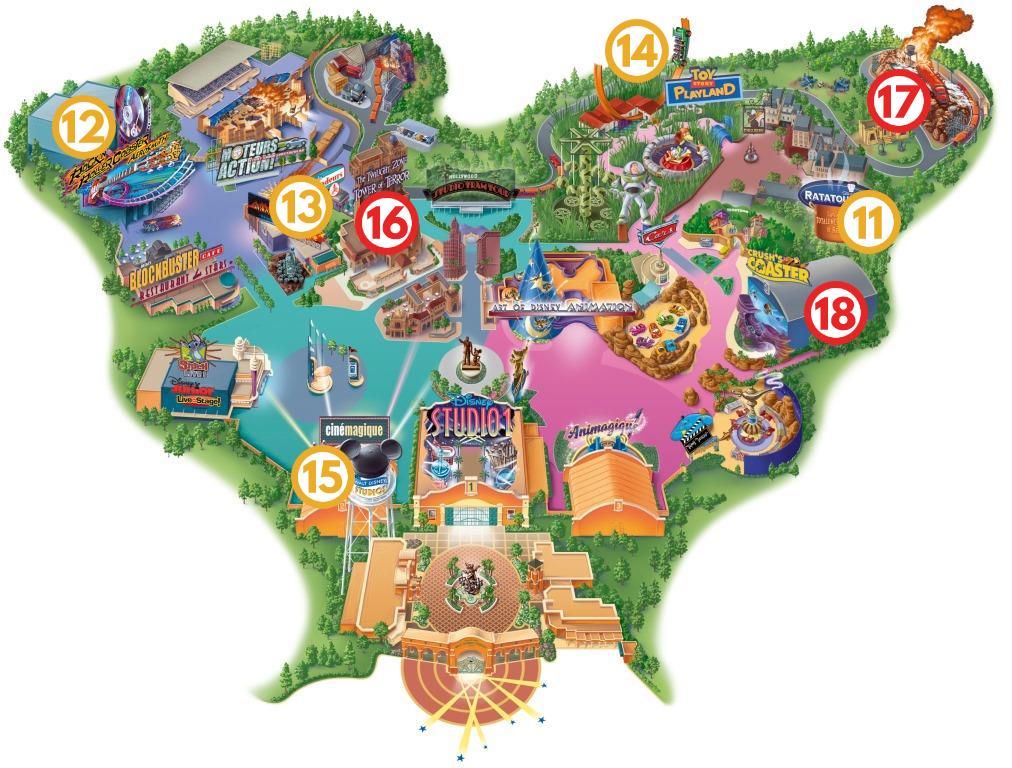 Mapa Walt Disney Studios wg jedź, BAW SIĘ!