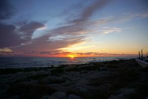 Aktau - zachód słońca