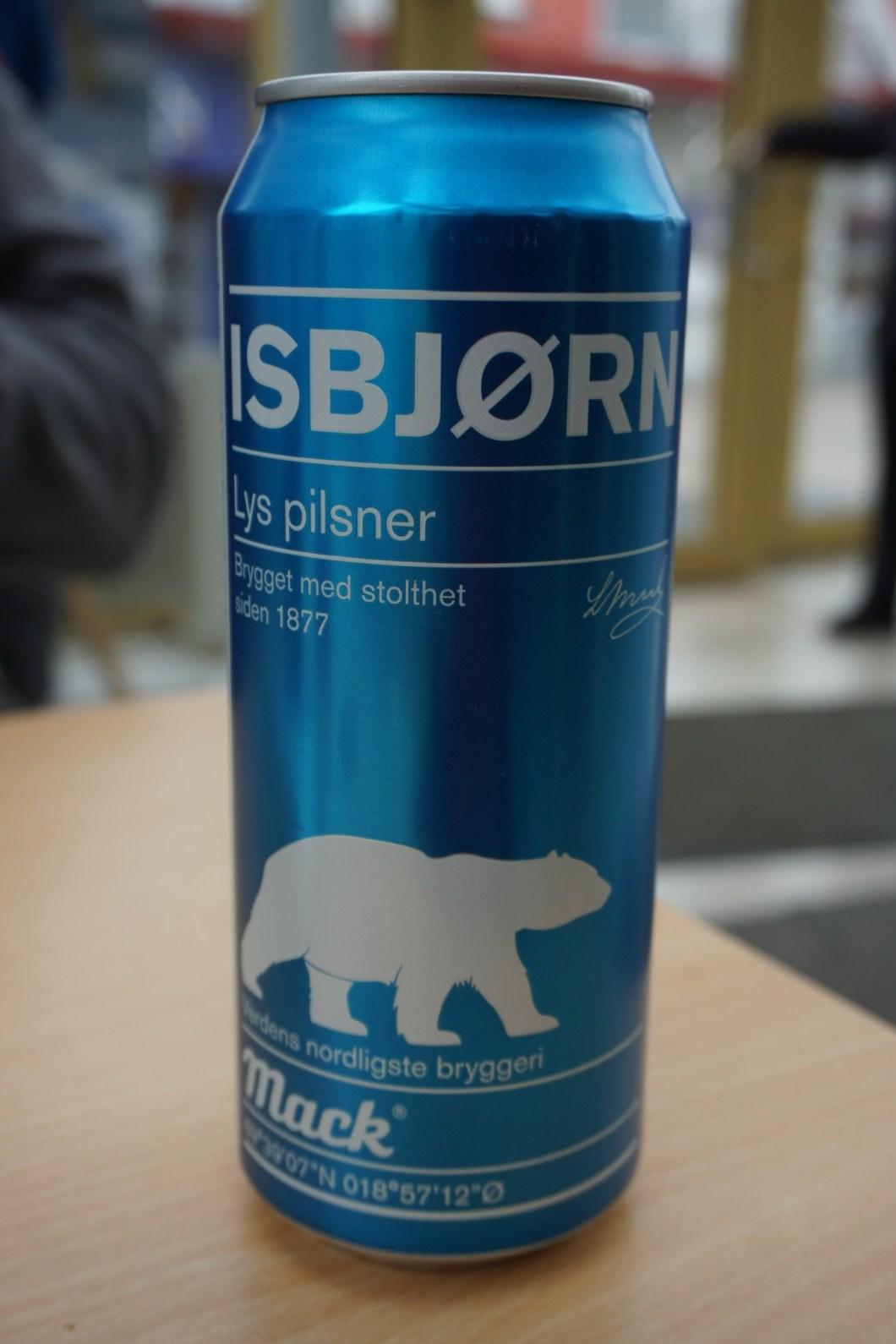Alkohol na Svalbardzie - piwo Isbjørn
