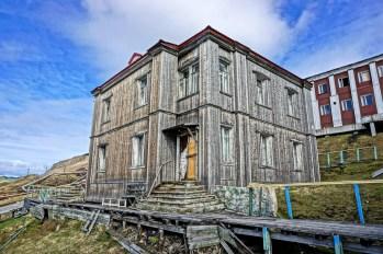 Barentsburg - XX-wieczne zabudowania
