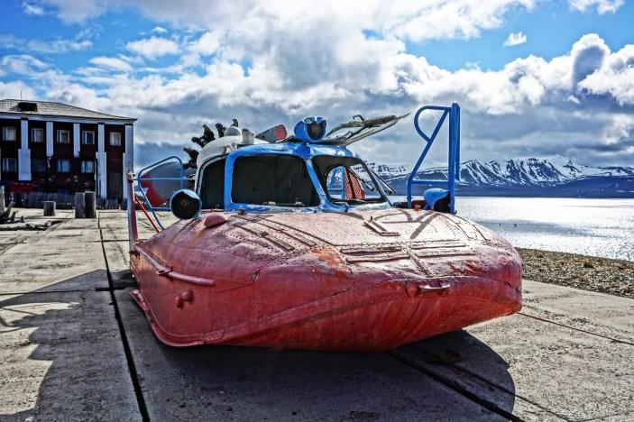 Barentsburg - poduszkowiec