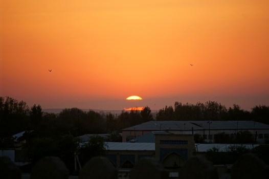 Chiwa - zachód słońca