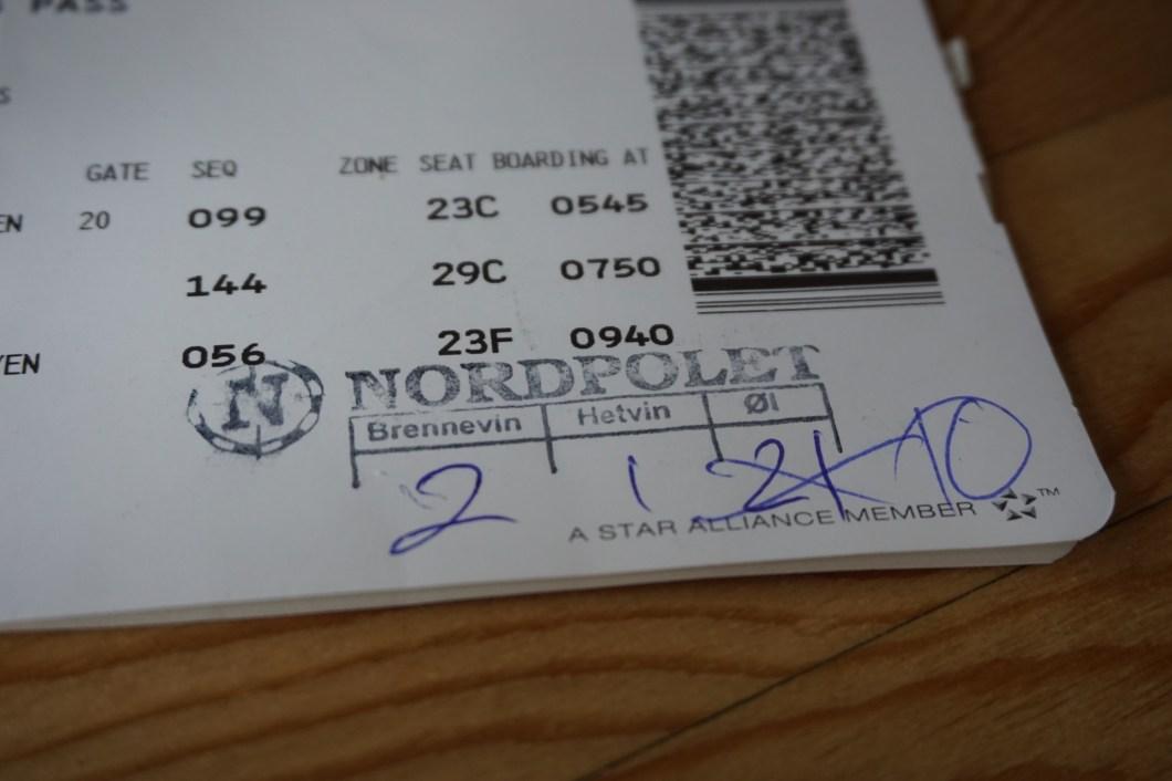 Svalbard - bilet z limitem alkoholu