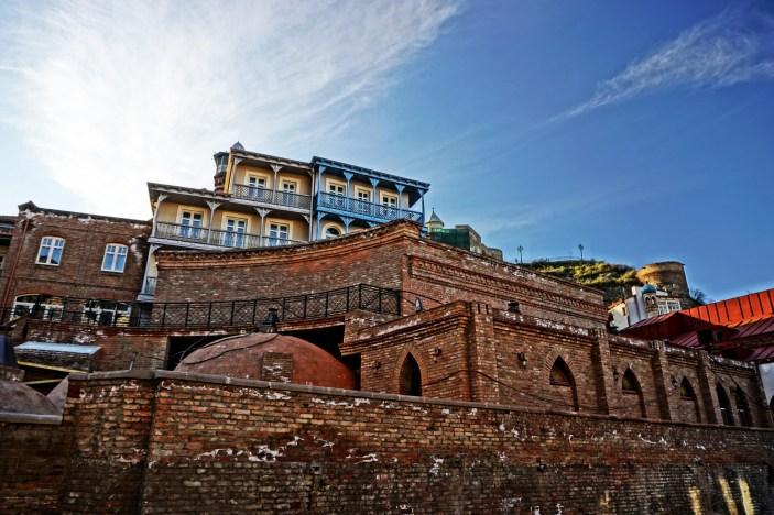 Tbilisi - domy w okolicy Abanutobani