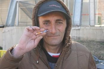 Tbilisi - gość z papierosem