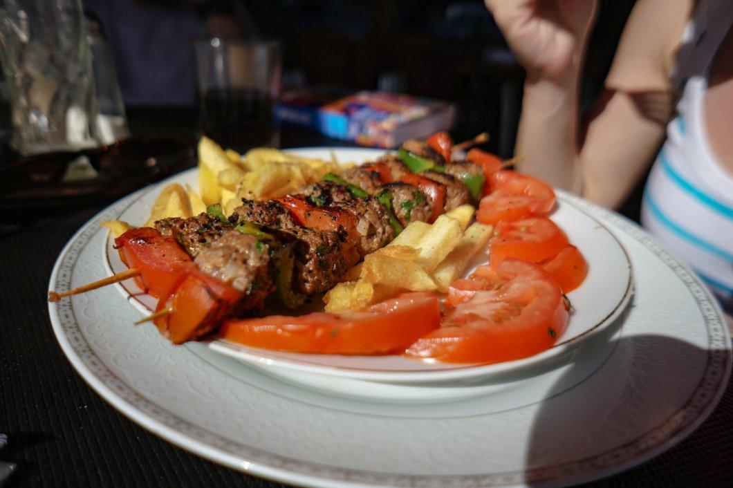 Jedzenie w Maroko - szaszłyki