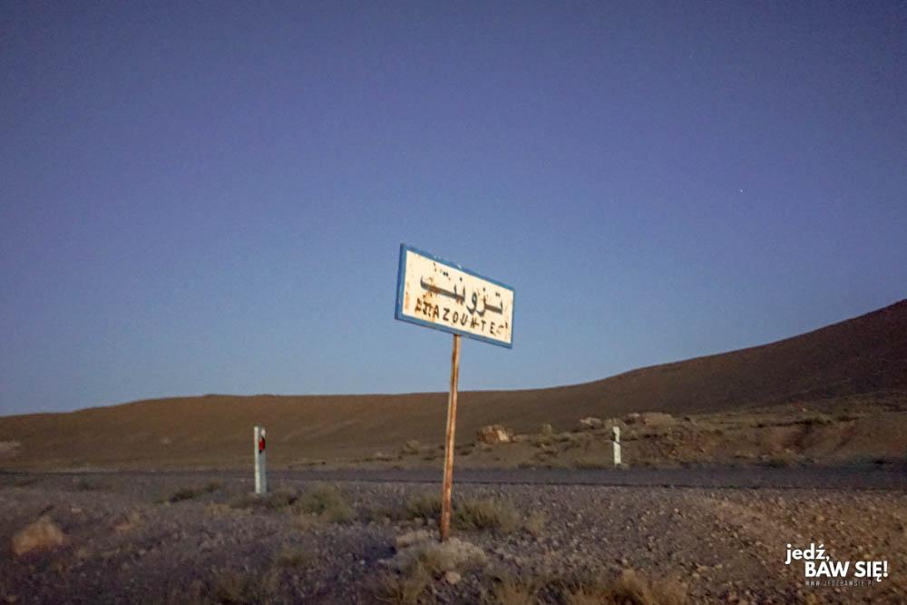 Maroko - kierunkowskaz na Tazounte