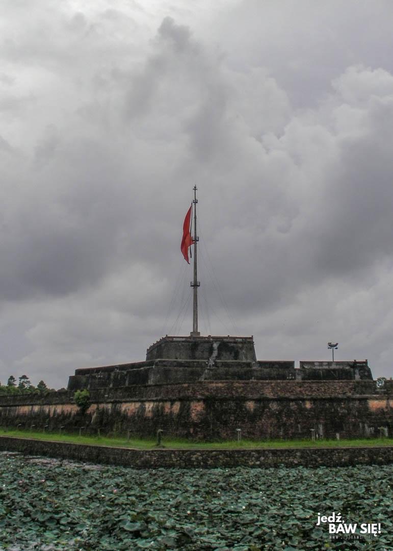 Cytadela w Hue - maszt flagowy