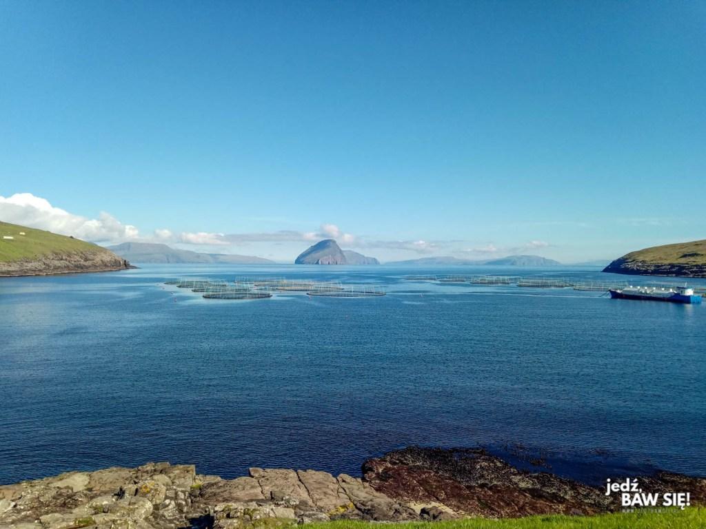 Nocleg na Wyspach Owczych - widok z Giljanes Hostel
