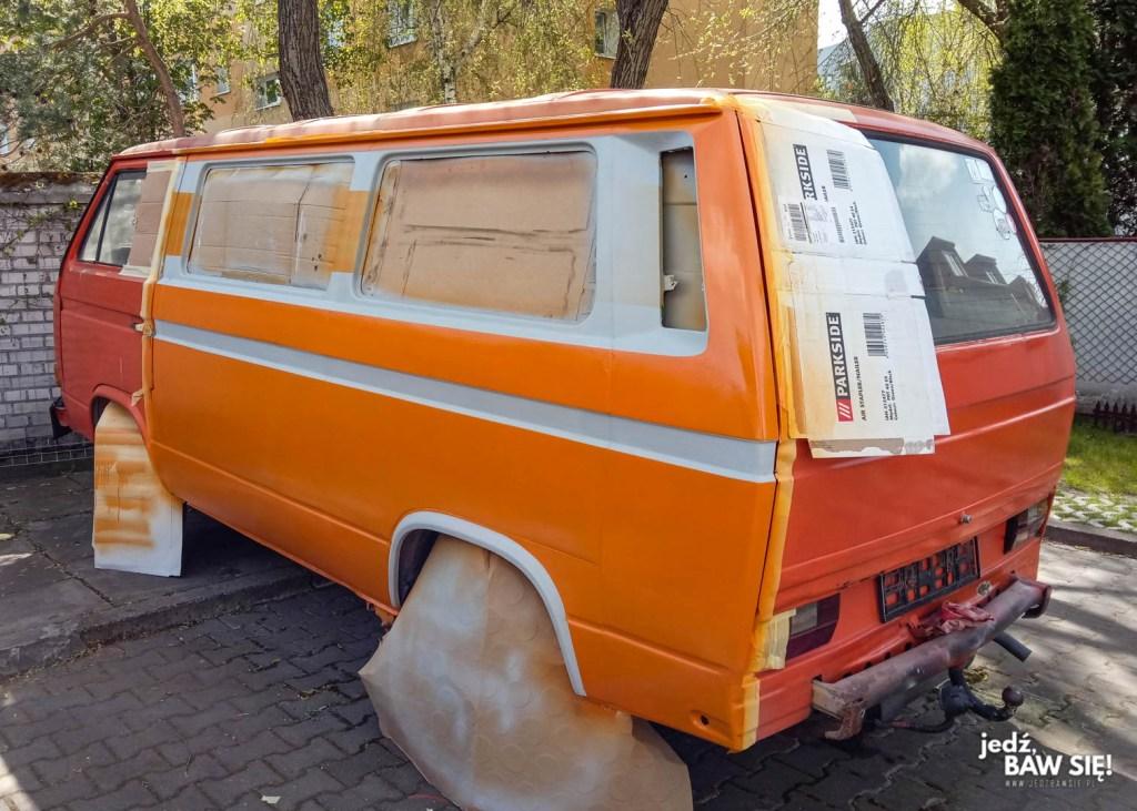 Lakierowanie VW T3 - odcinanie kolorów