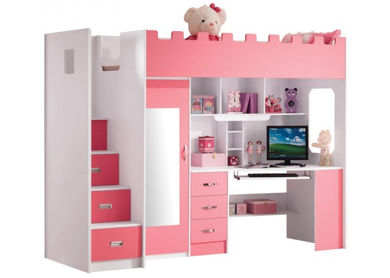 Roze Hoogslaper Voor Meisjes Chica Halfhoogslapers En