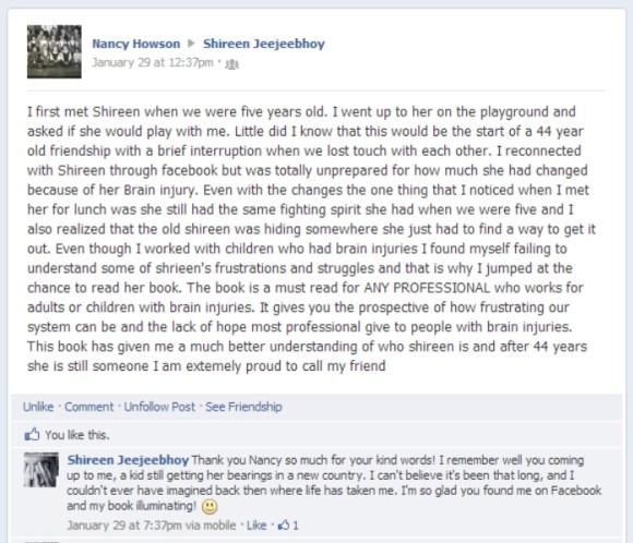Nancy Howson Facebook Post Screen Capture