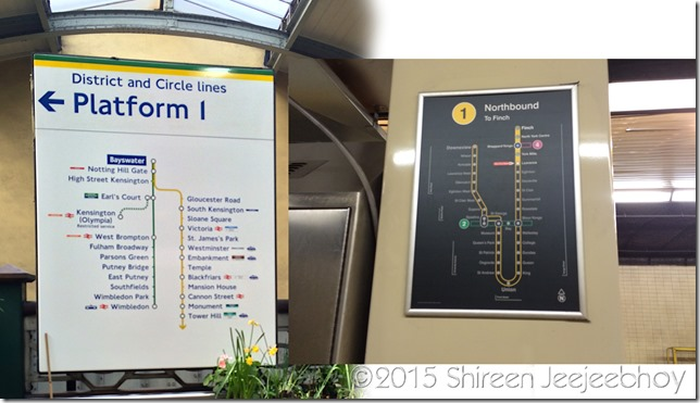London Underground TTC Platform Signs Collage SOOC Shireen Jeejeebhoy 26-09-2015