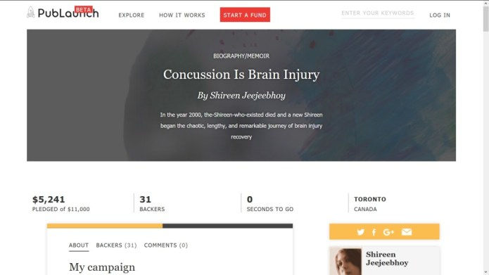 End of Crowdfund Campaign for Concussion Is Brain Injury Update