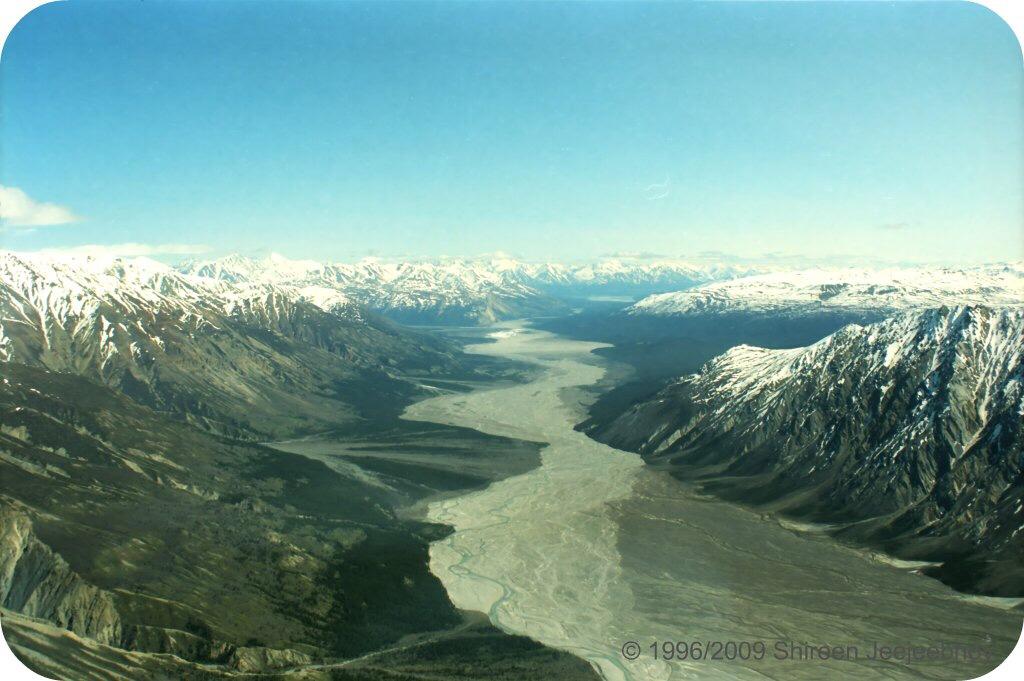 River in Yukon between mountains