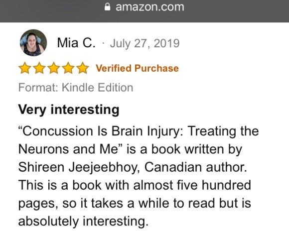 Mia C. 5-star review 27 July 2019
