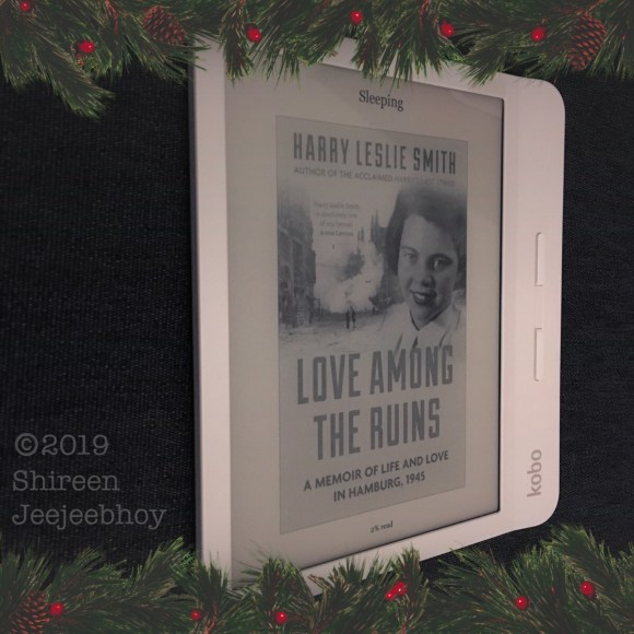 Kobo Libra H2O with Love Among the Ruins Cover on screen