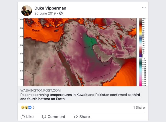 Kuwait and Pakistan third and fourth hottest on Earth