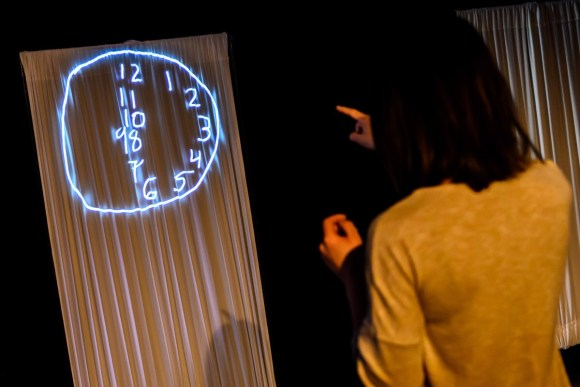 Trying to draw a clock. This shows left visual field deficit. Production photo by Dahlia Katz.